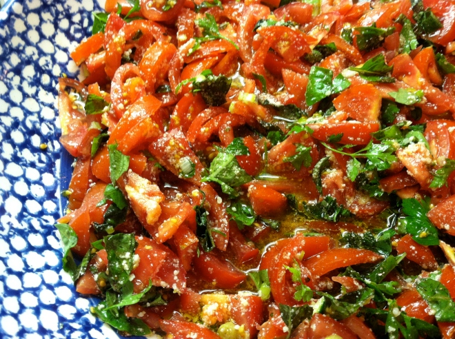 tomato crudo sauce