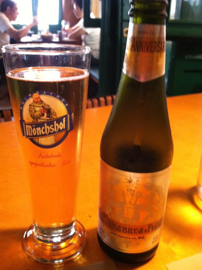 "Beer ""bionda"" at La Zucca"