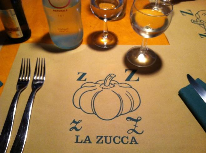 La Zucca place setting