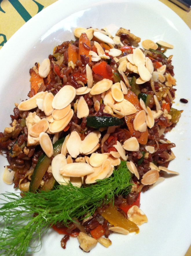 La Zucca Red Rice w Almonds & Tofu