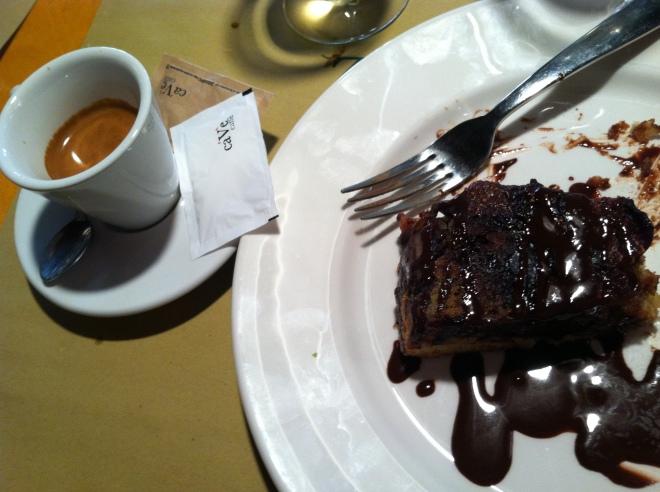 La Zucca fig cake w chocolate