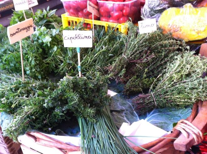 Herbs at the Rialto Market