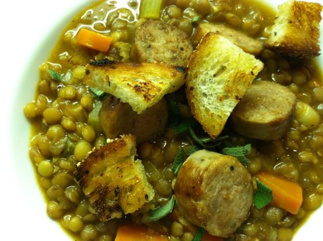 A serving of lentils
