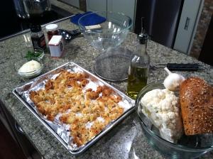 Ingredients for Cauliflower Pasta