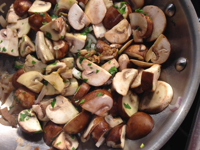 Sauteed Fresh Mushrooms with Dried Porcini
