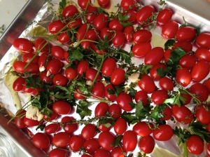 Roasted Cherry Tomato Sauce before