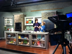 With Holly Thompson on the set of WSMV-TV