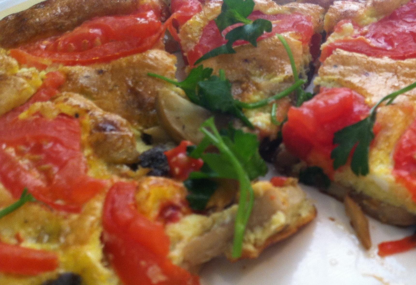 Mushroom Tomato Frittata – Chef Paulette
