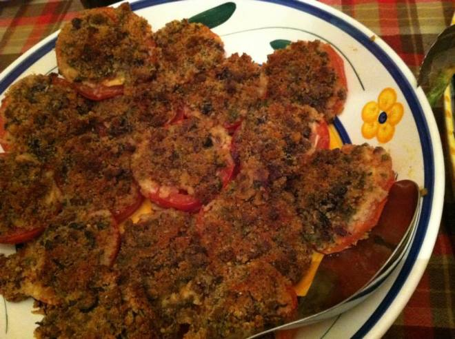 Roasted Tomatoes with Breadcrumb