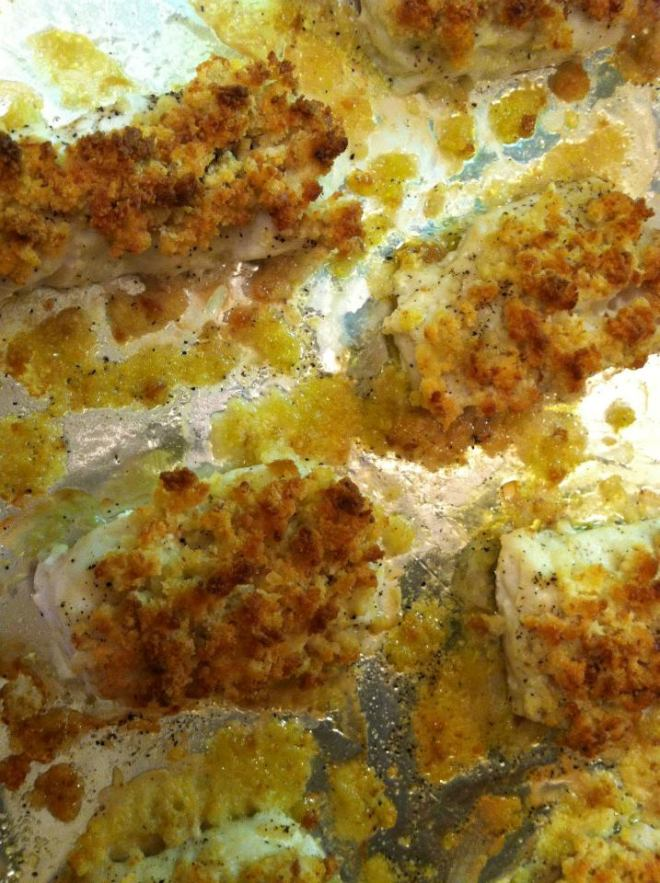 Cod Filets with Breadcrumb Topping