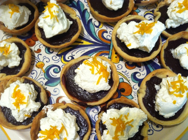 Chocolate Tarts w Cream