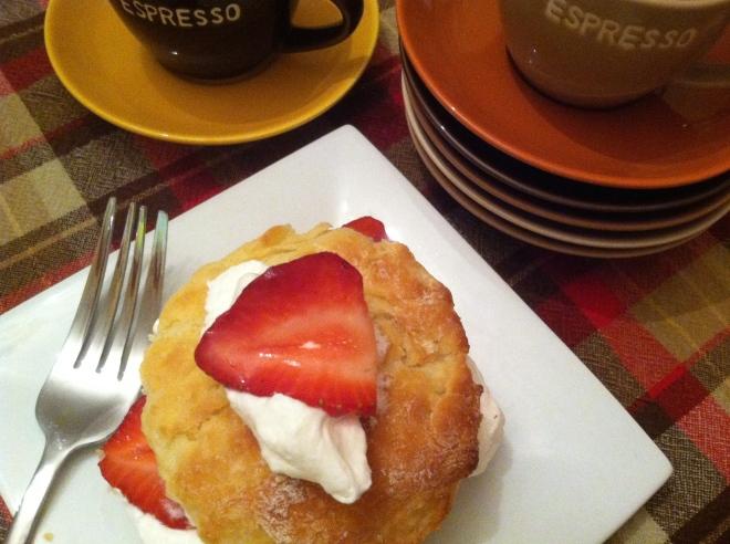 Strawberries & Cream Yogurt Cake