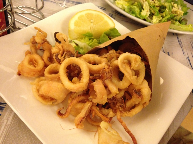 Fried calamari & shrimp