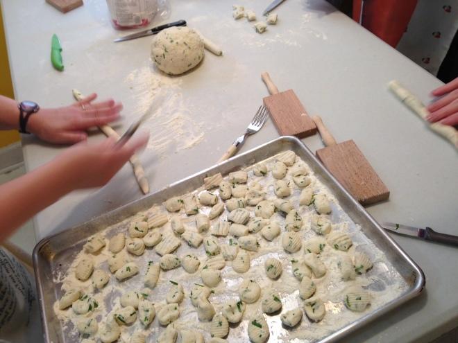 making ricotta gnocchi