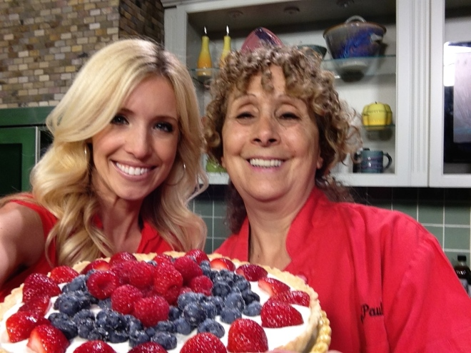 Me And Kacy Hagerty with the July 4th tart.