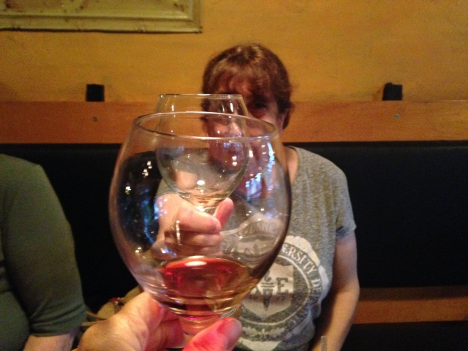 Nina & I toasting our wine
