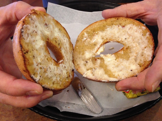 Buttered Bagel