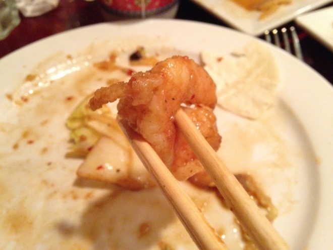 Just Give Me A Shrimp And I'm Happy.