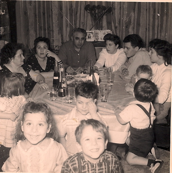"""At """"Auntie's"""" with the family. Me & cousin Steven in foreground raising hell"""