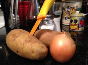 potato and onion about to be in maetloaf