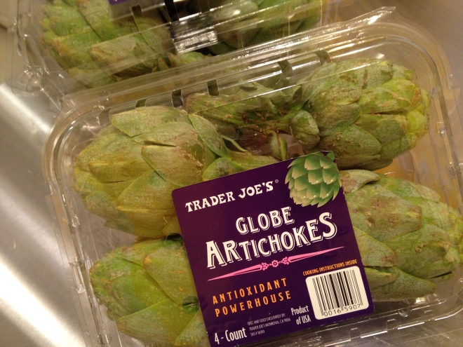 Fresh Artichokes at Trader Joe's