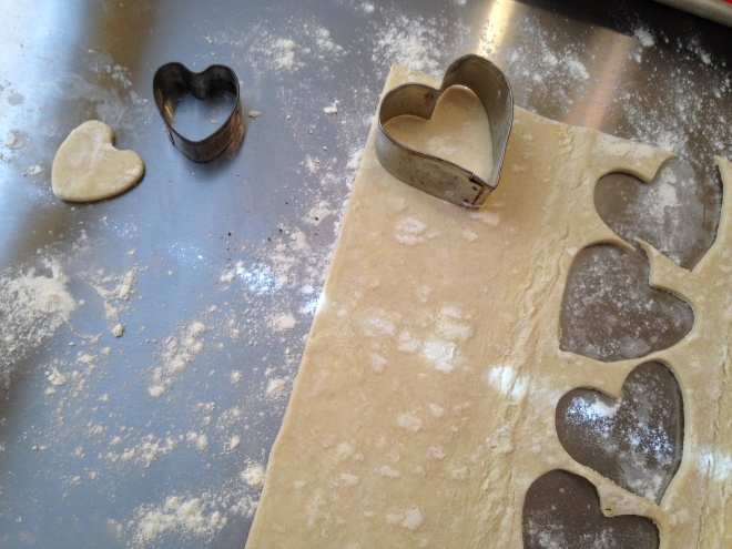 cutting out the hearts