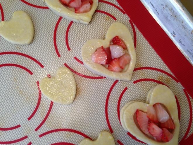 hearts on sheet pan