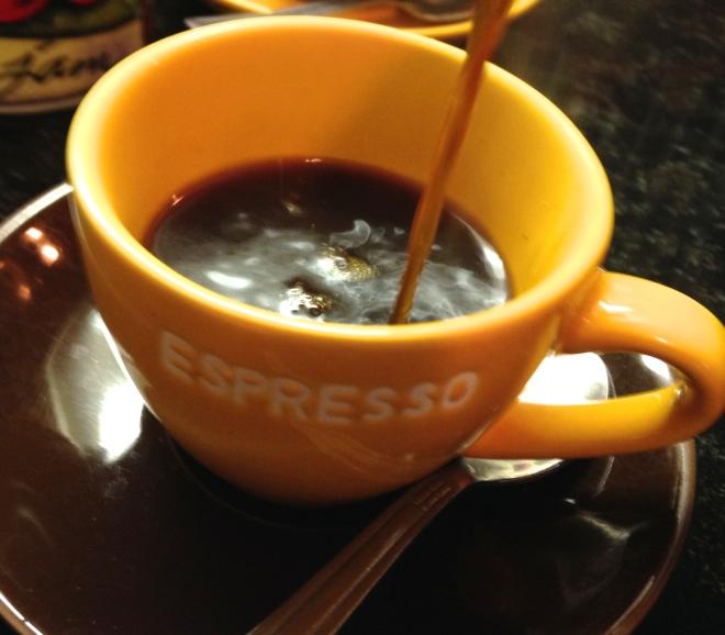 pour your espresso
