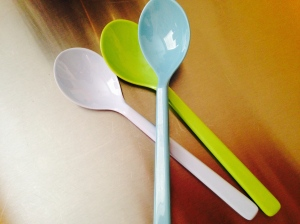 plastic ice cream spoons