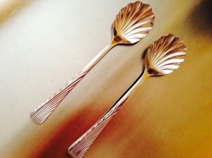 scalloped spoons