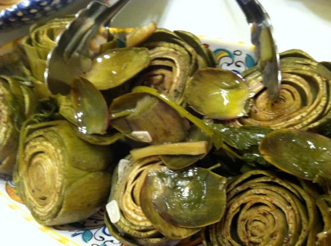 plain cooked artichokes