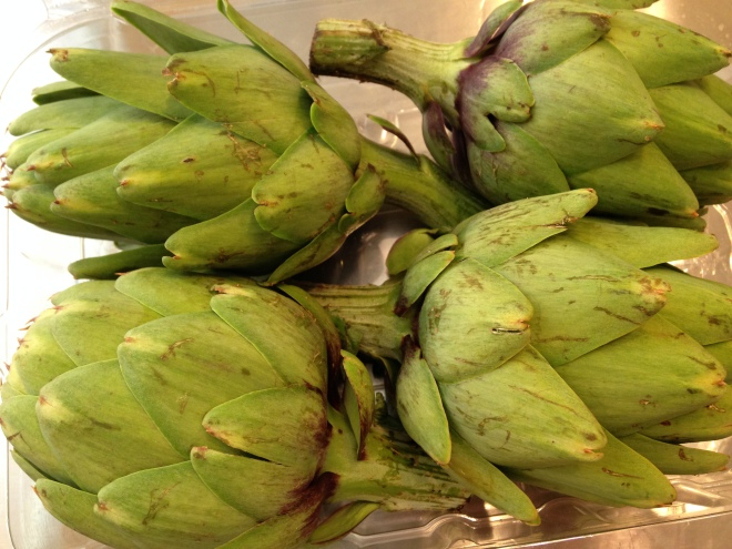 medium-sized artichokes