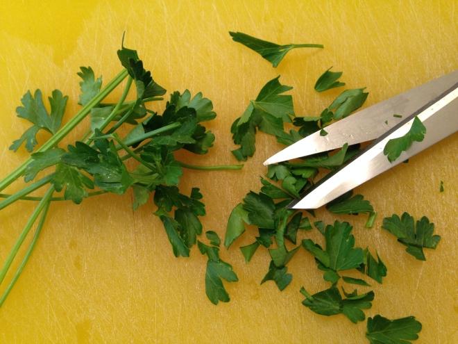 scissor parsley