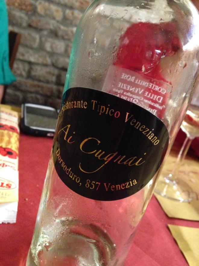 Ai Cugnai house wine