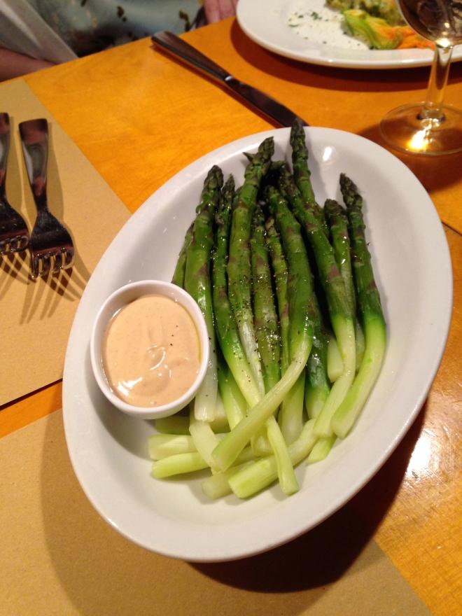 asparagus at La Zucca