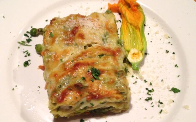vegetable lasagna at La Zucca