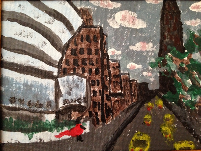 Guggenheim Museum - my very first painting