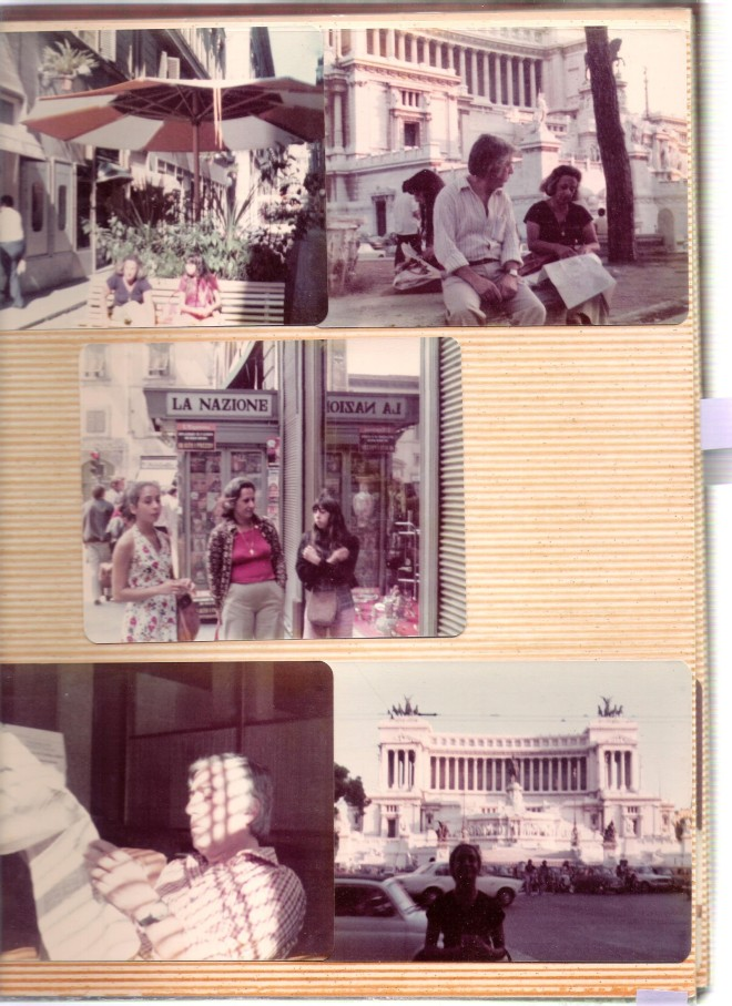 first trip to Rome with family 1974