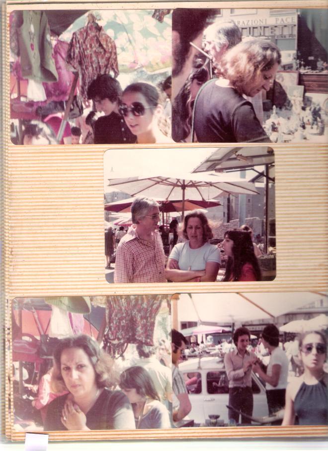 1974 trip with family at the Porta Portese Sunday flea market