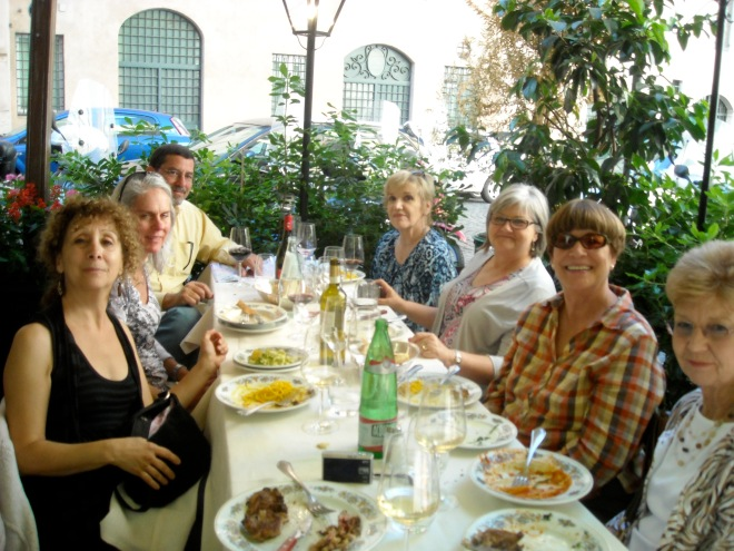 the touring group I led to Rome at lunch at Archimede