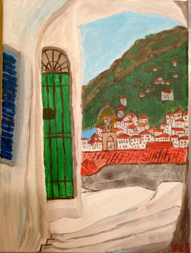 Amalfi paining by Chef Paulette
