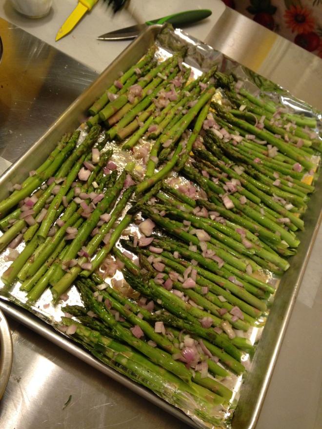 roasting asparagus