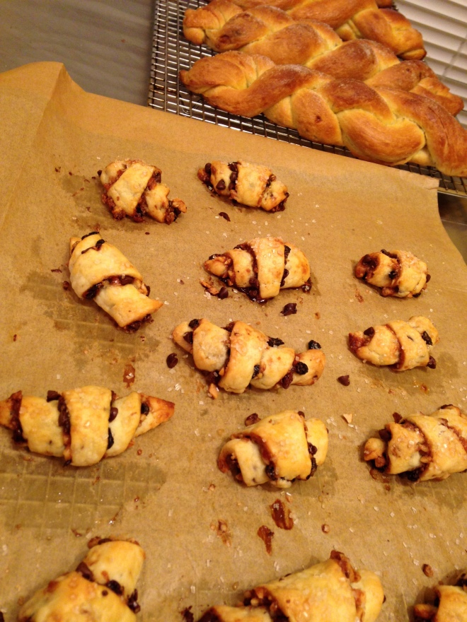 babka bread and rugelach
