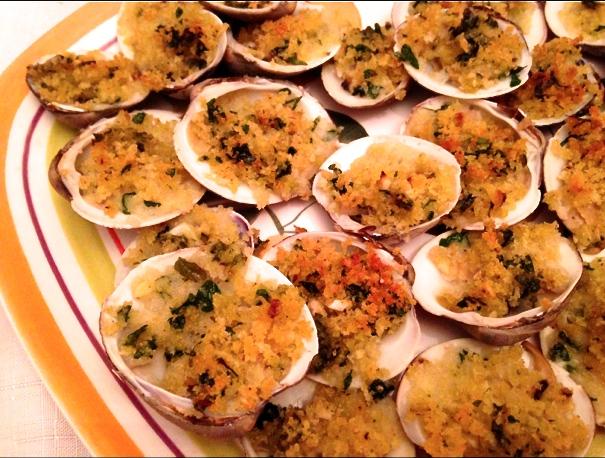 clams oreganata