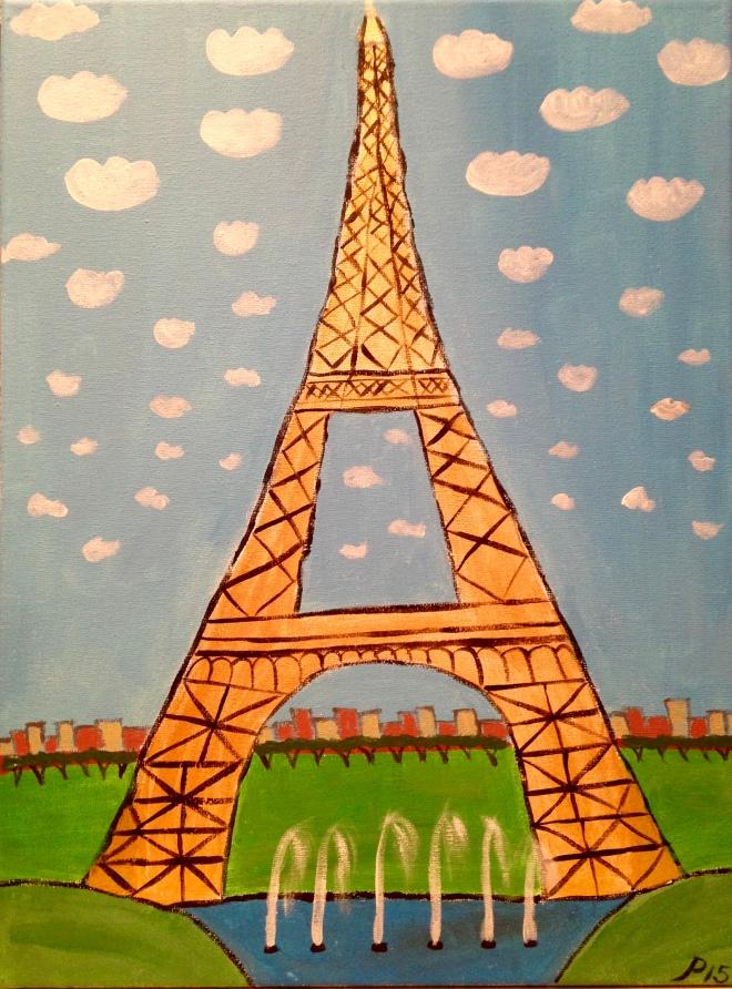 Gold Eiffel Tower