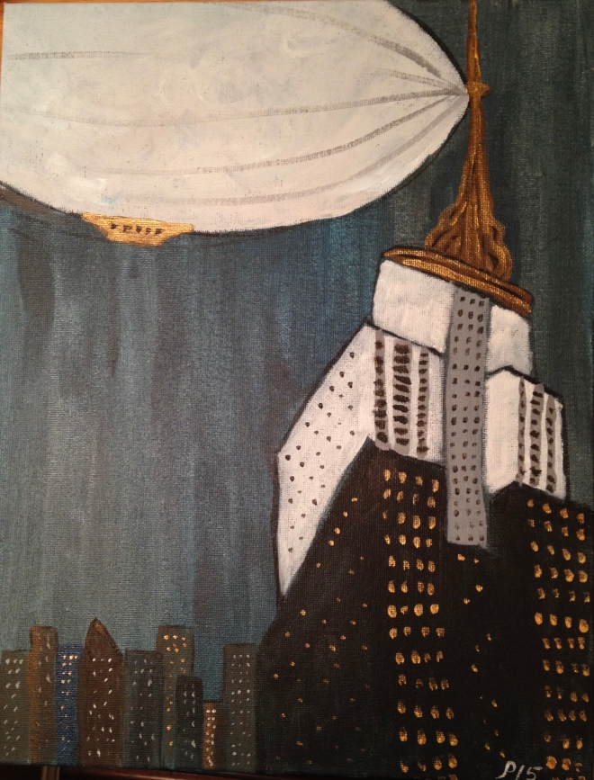 Empire State Building with Dirigible