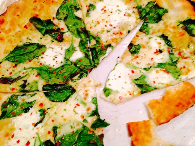 Sky King white pizza