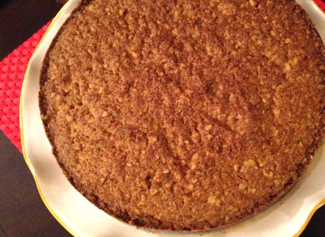 baked walnut cake