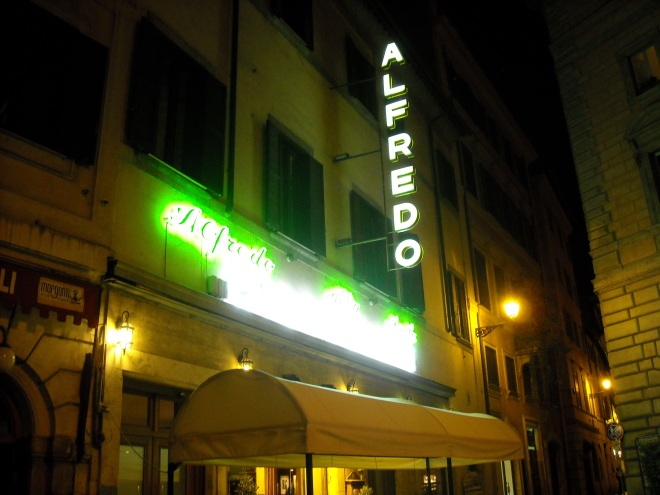 An Alfredo restaurant in Rome