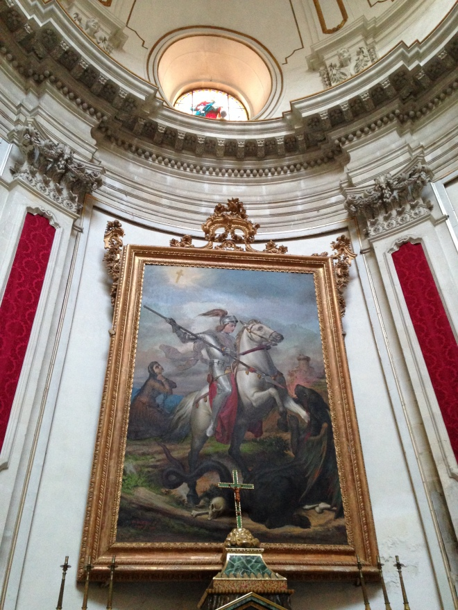 San Giorgio interior w portrait of Saint George